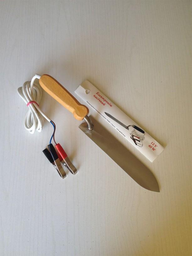 Нож электрический 12 V / 40 W, лезвие нержавейка