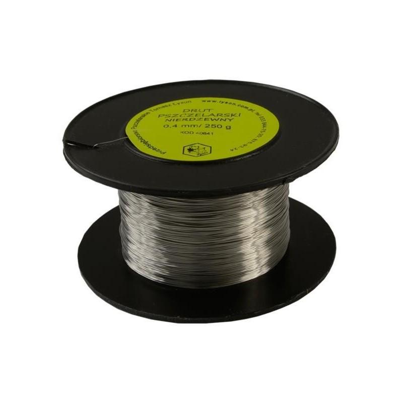 Sirma pentru rame, inox, 0.4 mm. 250 gr.