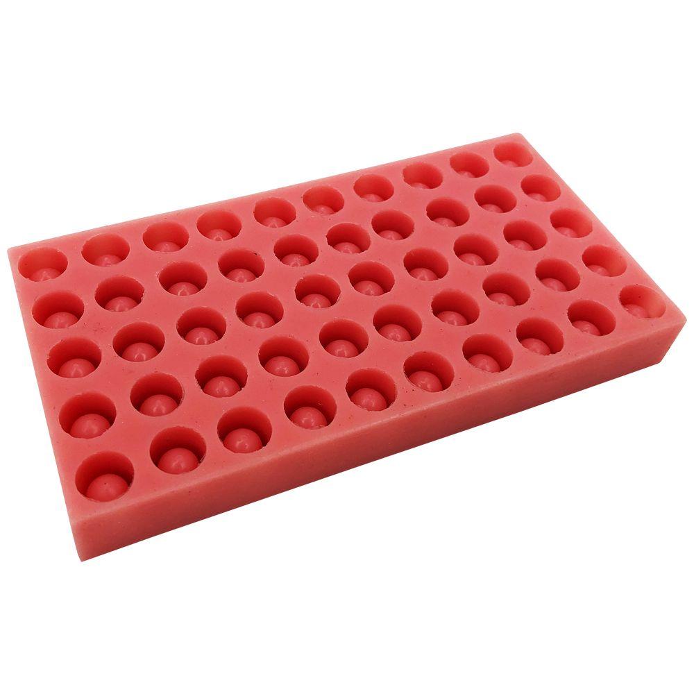 Силиконовые формы для изготовления толстостенных восковых мисочек, 50 штук