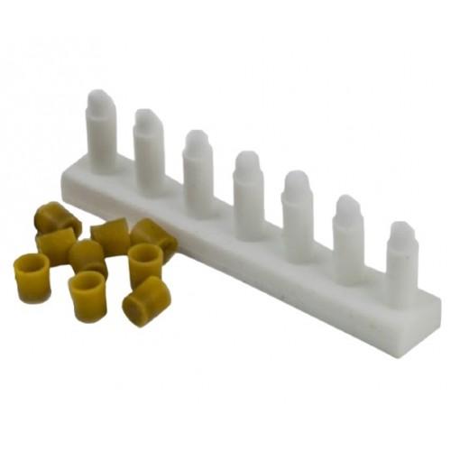 Силиконовые формы для изготовления восковых мисочек, 7 штук