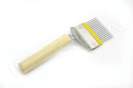 Вилка для распечатки сот, игла прямая нерж-ка, ручка дерево