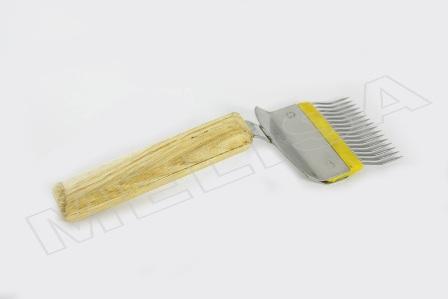 Вилка для распечатки сот, игла гнутая нерж-ка, ручка дерево