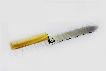 Нож 200 мм. зубчатый, нерж-ка