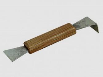 Стамеска 200 мм. оцинковка, деревянная ручка