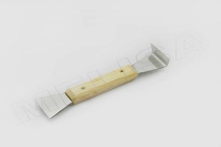 Dalta apicola pentru rame, inox/lemn.