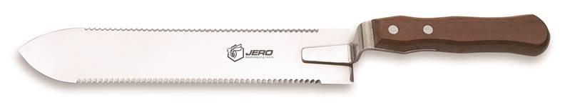 Нож пчеловода JERO зубчатый с двусторонней заточкой 25 cм
