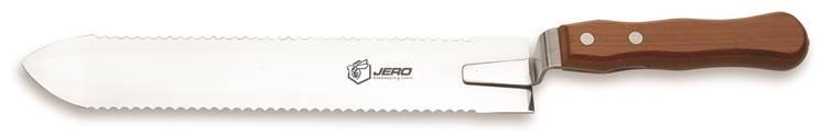 Нож пчеловода JERO зубчатый с двусторонней заточкой 28 cм