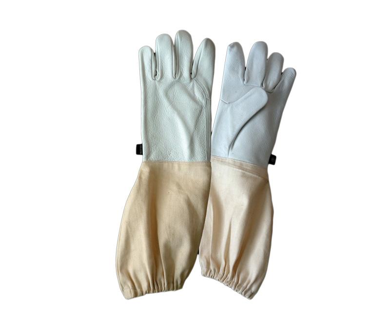 Перчатки кожаные с нарукавниками