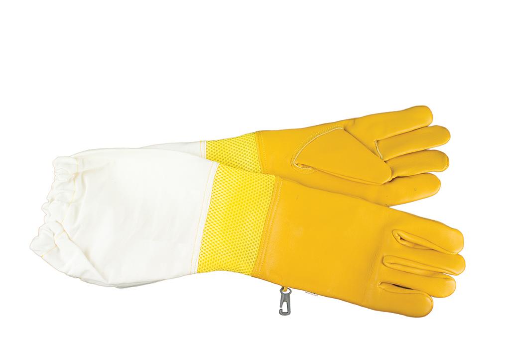 Перчатки кожаные с нарукавниками и вентиляцией
