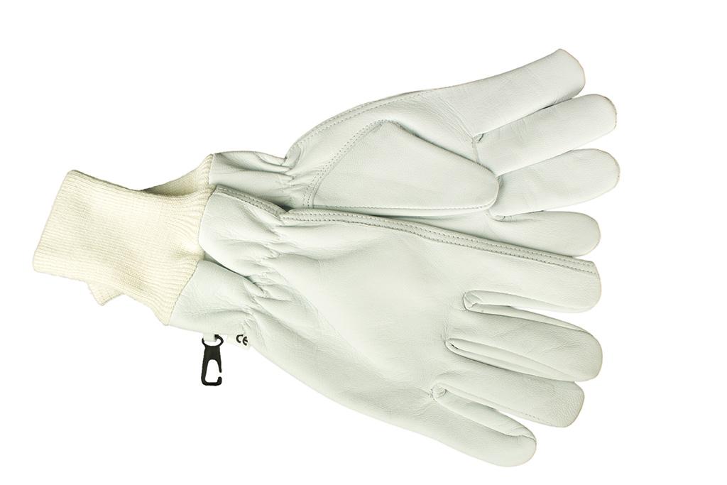 Перчатки кожаные короткие