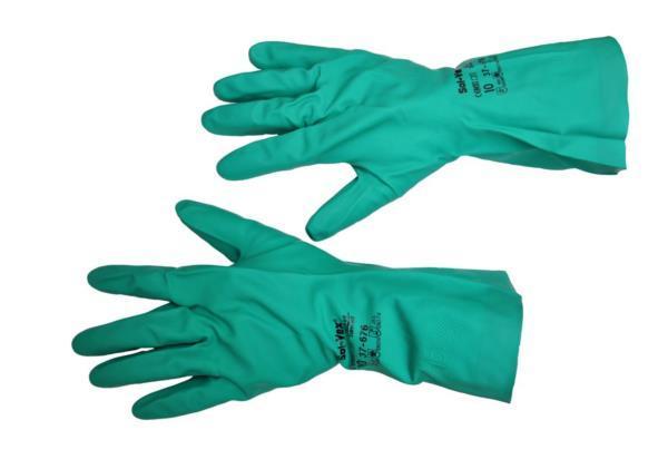 Перчатки резиновые, кислотоустойчивые