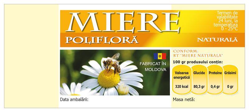 Этикетка для Цветочного мёда, 100 шт
